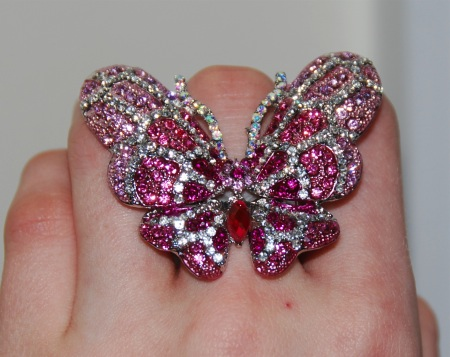 butterfly 6 CLOSED! Fantasy Jewelry Box Crystal Butterfly Ring & Your Chance To Win One!