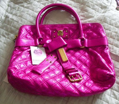 bruna 2 Marc Jacobs Bruna Quilted Metallic Fuchsia Tote