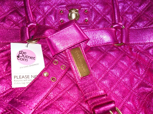 bruna 3 Marc Jacobs Bruna Quilted Metallic Fuchsia Tote