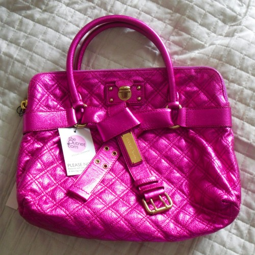 bruna Marc Jacobs Bruna Quilted Metallic Fuchsia Tote