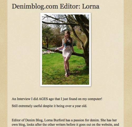 lorna burford feature 2 Some More Features & Interviews
