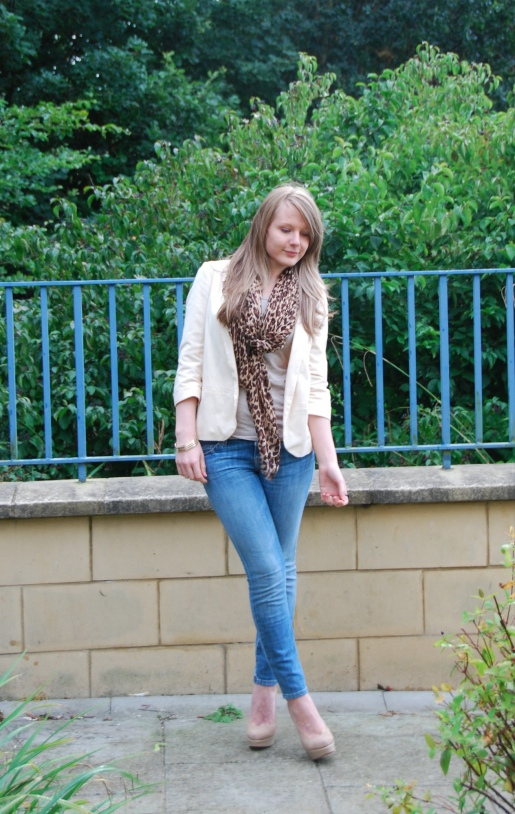 stiletto canteen 21 The Cream Blazer With The Leopard