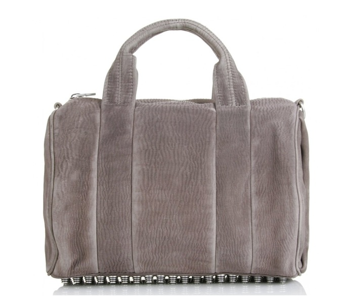 Alexander Wang Grey Rocco Mini Duffle Bag.