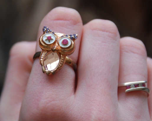 topshop owl ring