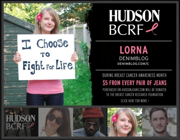 hudson campaign lorna new 2 I Took Part In The Hudson BCRF Campaign