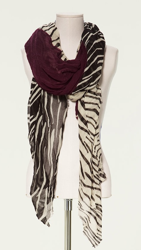 zara triple combination scarf zebra My Christmas Wish List
