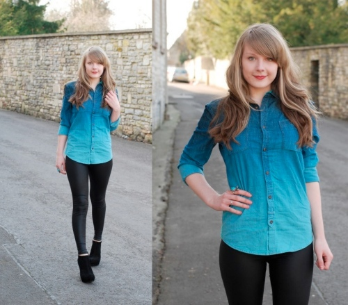 lorna burford denim shirt1 In Love With Dip Dye Ombre