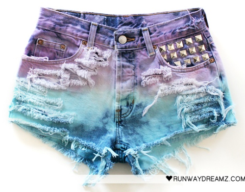runwaydreamz shorts In Love With Dip Dye Ombre