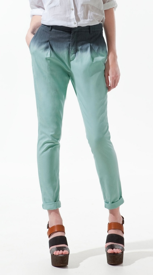 zara dip dye trousers In Love With Dip Dye Ombre