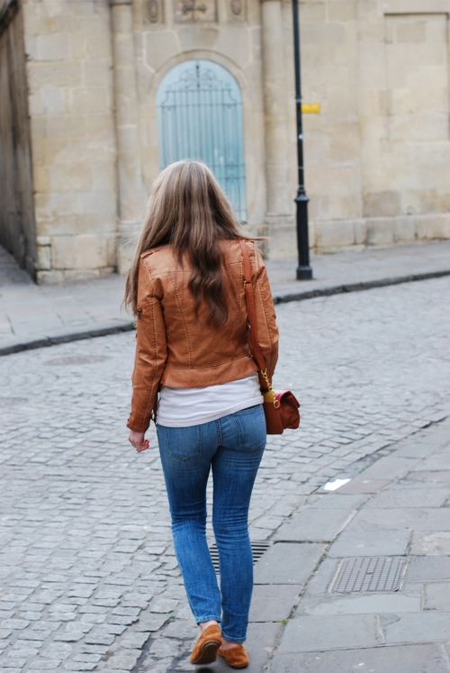 current elliott jeans The Tan Leather Jacket