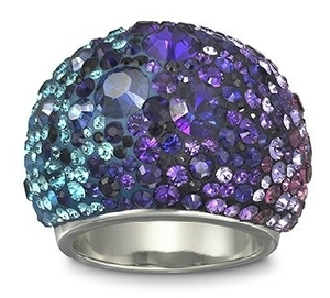 swarovski chic purple blue ring Obsessed With Rings