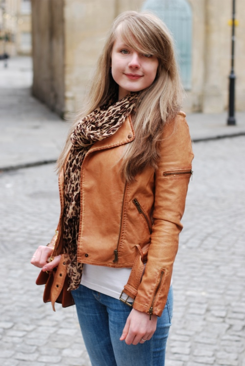 Womens light brown leather jacket – Modern fashion jacket photo blog