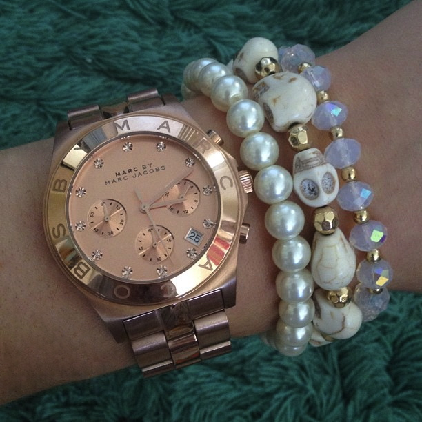 my new marc by marc jacobs rose gold blade chrono watch
