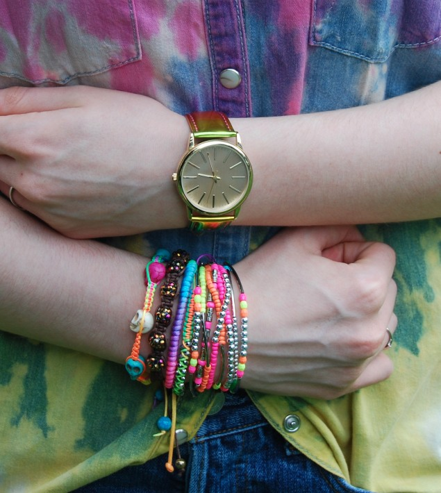 arm candy Tie Dye Double Denim