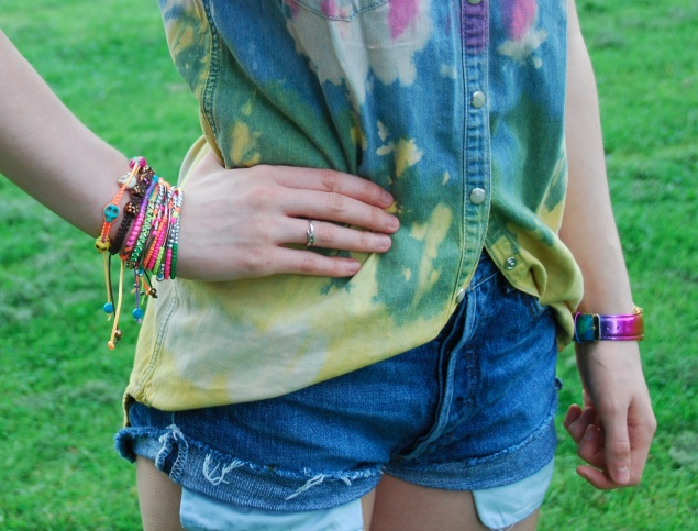 bracelets2 Tie Dye Double Denim