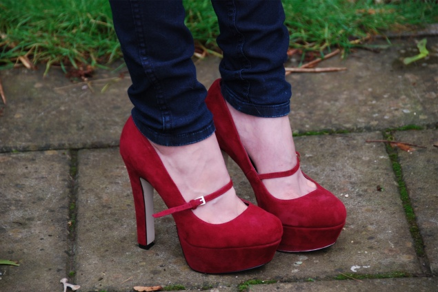 Of Heels Jane – Mary Sapphire Red Raindrops Shoes 0k8PnwO
