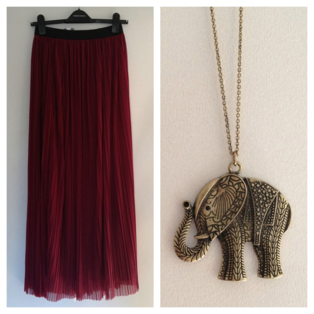 LOVE maxi skirt urban outfitters elephant necklace My New Purchases From London