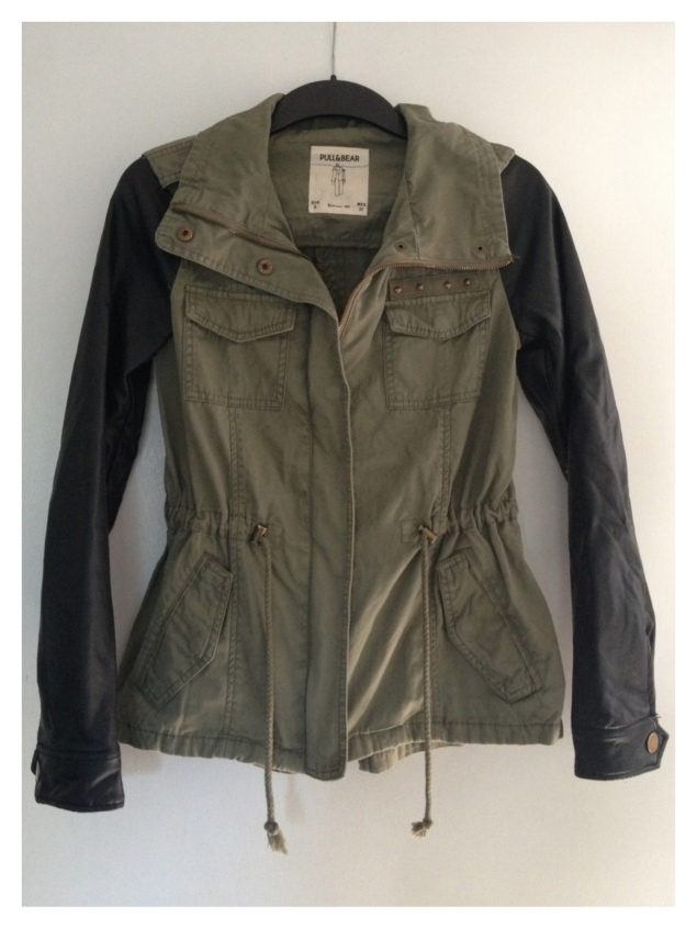 pull and bear khaki leather jacket My New Purchases From London