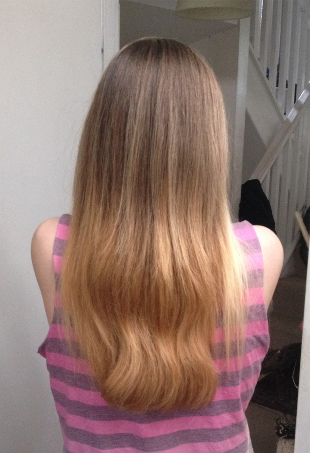 blonde ombre diy hair back My DIY Blonde Ombre Dip Dye Hair