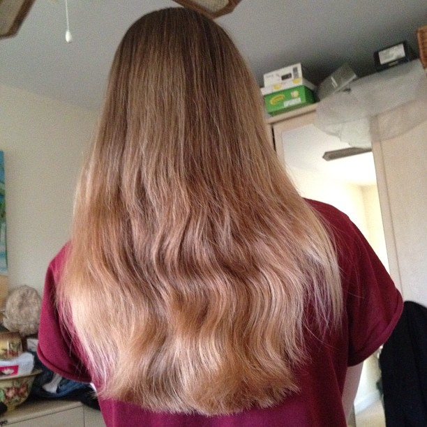 hair My DIY Blonde Ombre Dip Dye Hair