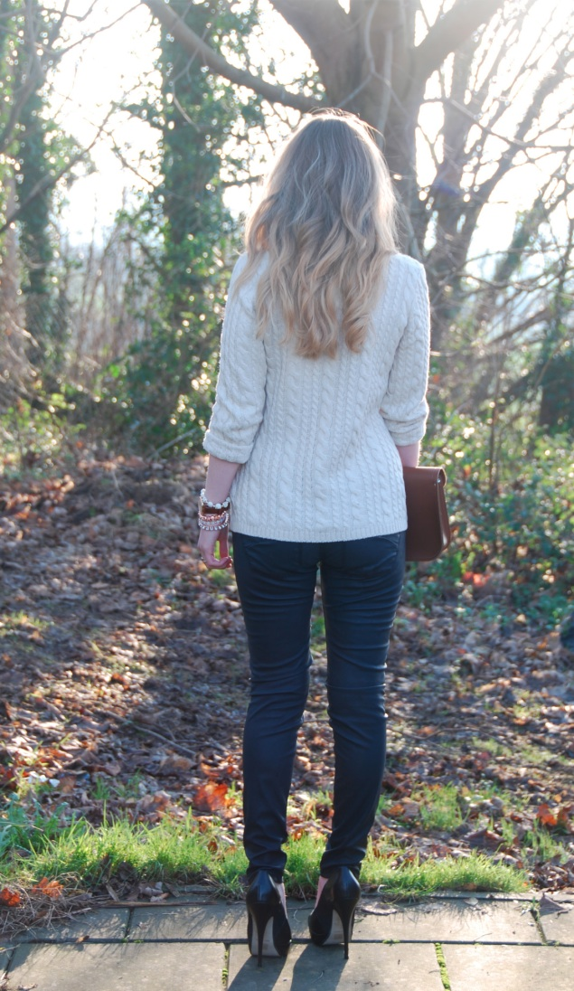 blonde ombre diy Faux Leather Jeans With Accessories