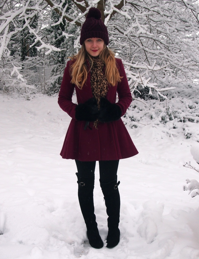 burgundy-coat-snow