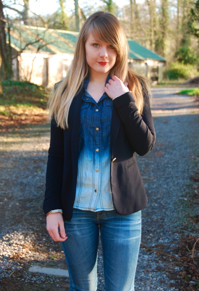 dip-dye-denim-shirt-navy-blazer