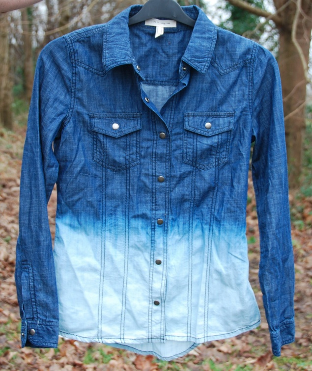 forever 21 ombre dip dye blue denim shirt New Clothes Purchases