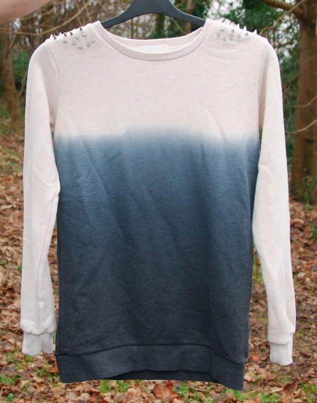 forever 21 ombre dip dye studded jumper sweater New Clothes Purchases