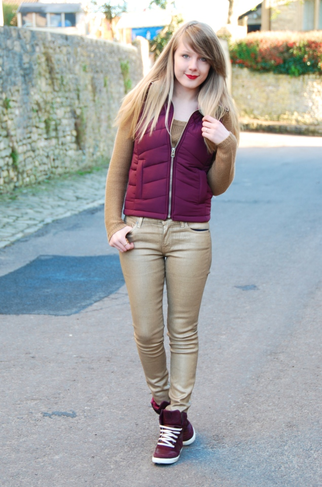 lorna burford gold burgundy My Outfits From January