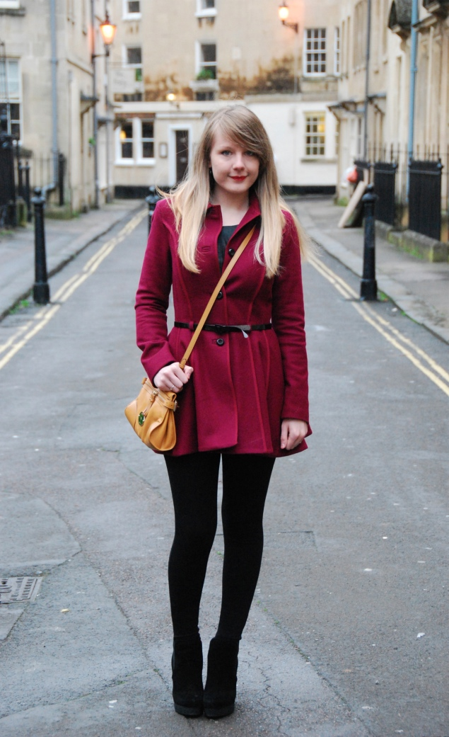 lorna burford topshop burgundy coat 2 My Outfits From January