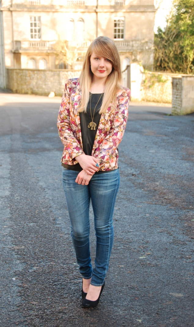 lorna burford topshop floral blazer My Outfits From January