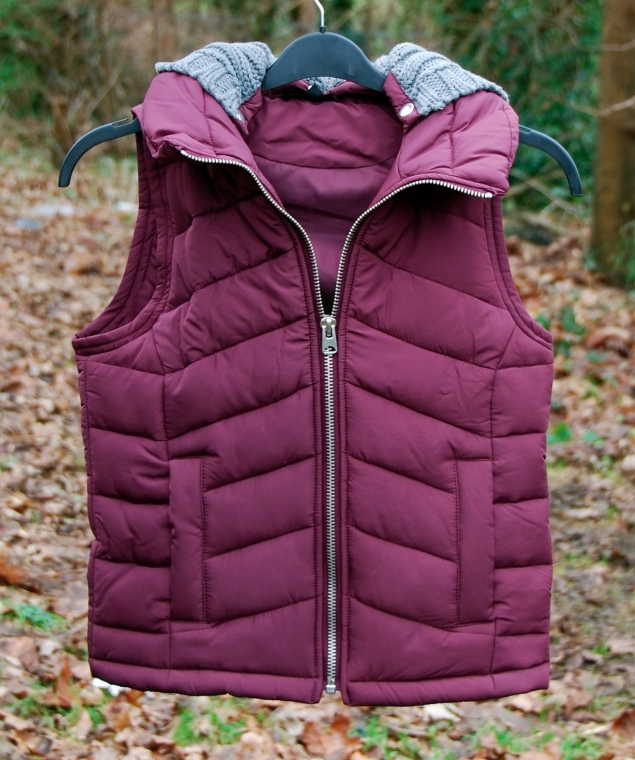 topshop burgundy body warmer gilet New Clothes Purchases