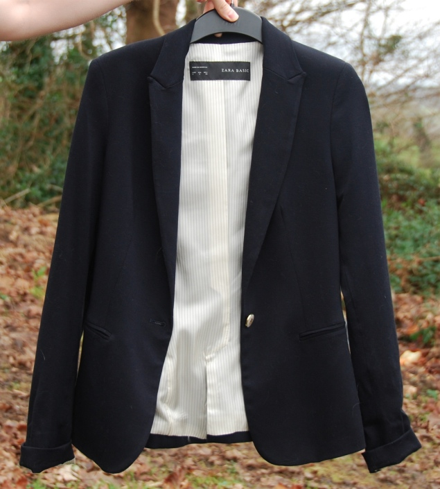 zara navy blazer New Clothes Purchases