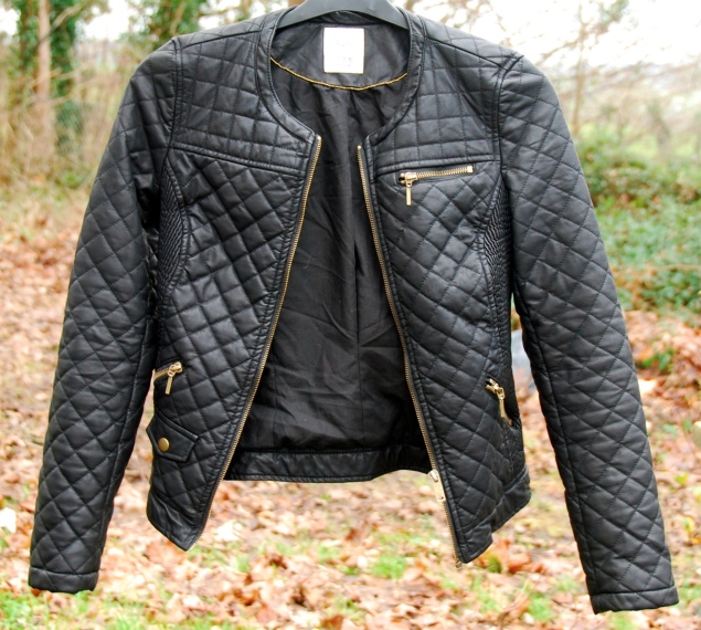 zara quilted leather jacket trf New Clothes Purchases