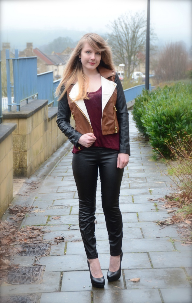 faux leather pants My Outfits From February