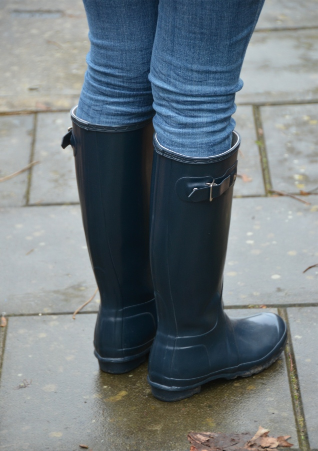 hunter navy wellies wellingtons boots My Navy Hunter Wellies Outfit