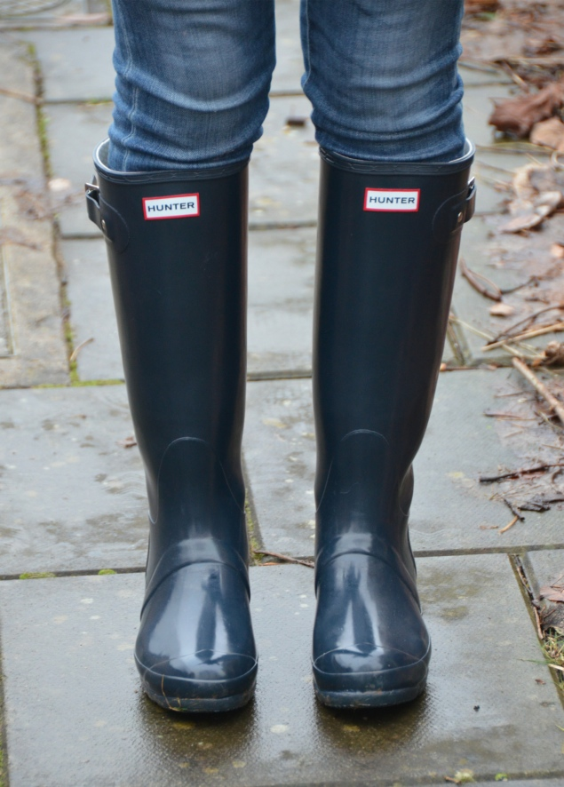 hunter navy wellies wellingtons My Navy Hunter Wellies Outfit