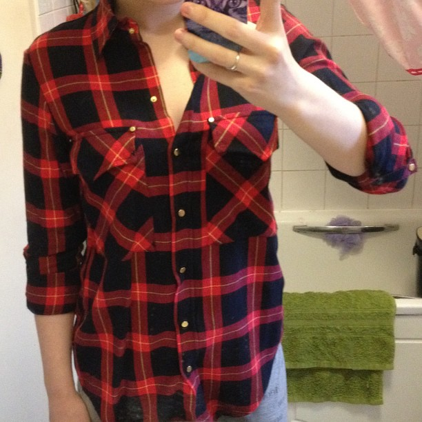 A red plaid/check shirt I got from Zara, which will be making an appearance very soon in an outfit post!