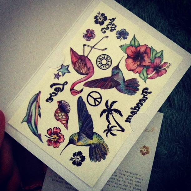 Some free pretty tattoos I got in the Donna Ida look book.