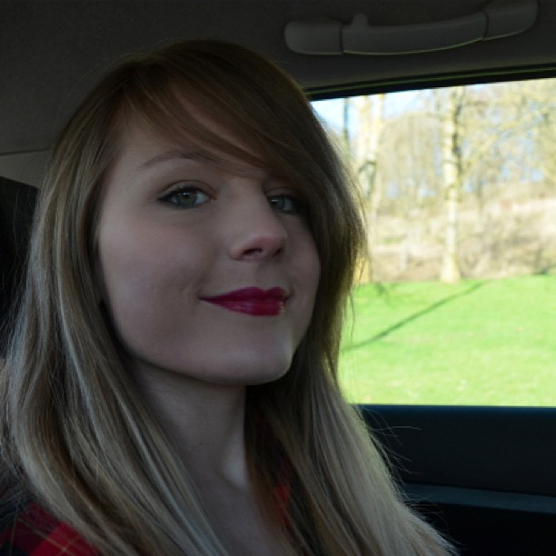 In the car on route to shoot some photos for the blog!