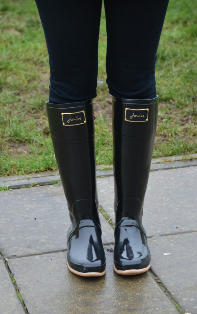joules black ribbon wellies Country Girl At Heart