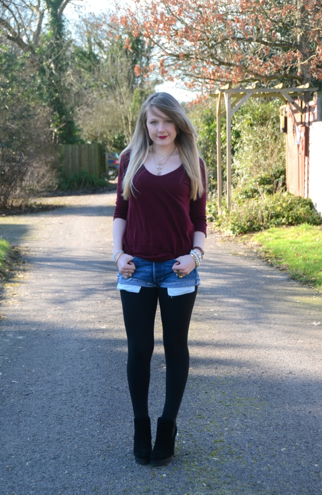 lorna burford denim shorts leggings Vintage Denim Shorts & Black Boots