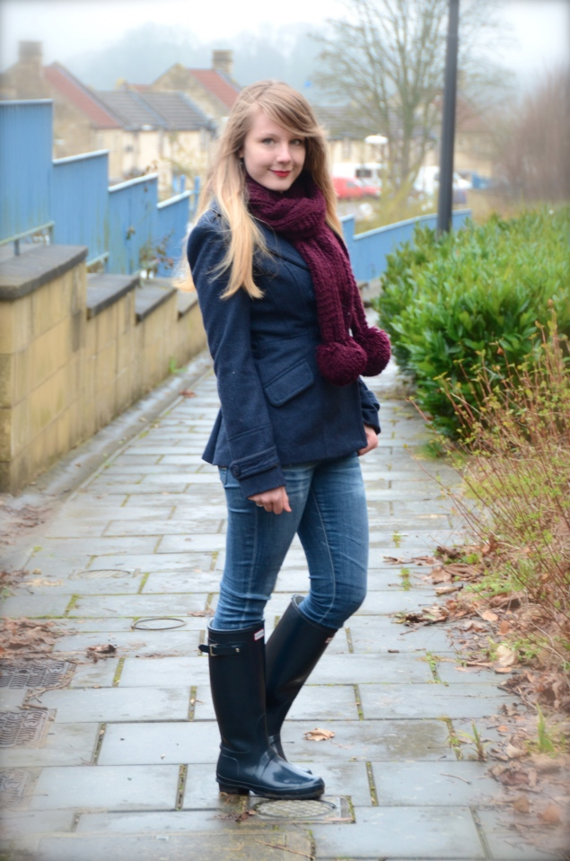 My Navy Hunter Wellies Outfit Raindrops Of Sapphire