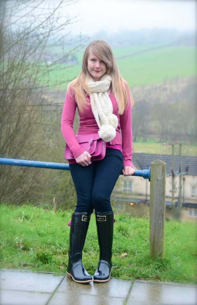 lorna burford pink wellies black jeans My Outfits From February