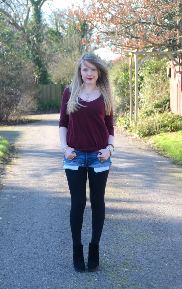 lorna burford shorts leggings Vintage Denim Shorts & Black Boots