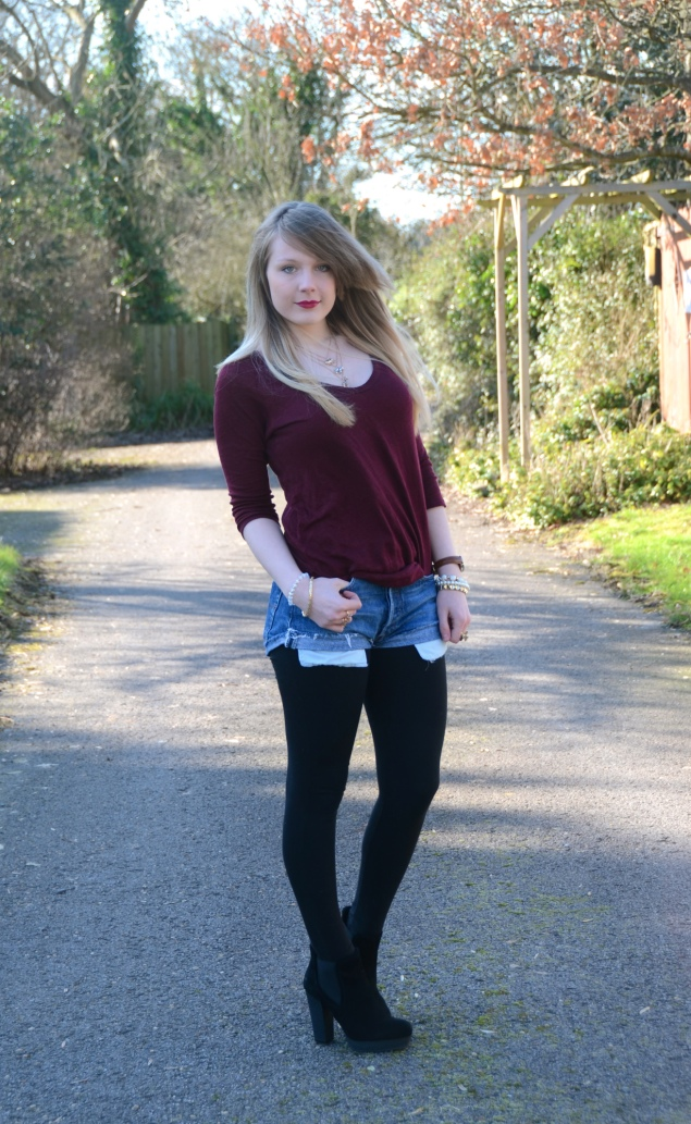 lorna burford shorts outfit Vintage Denim Shorts & Black Boots
