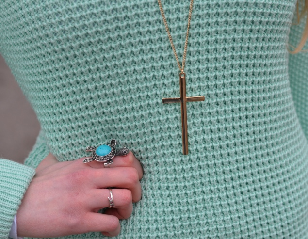 gold cross pendant Diesel Skinzee Jeans With A Sprig Of Mint