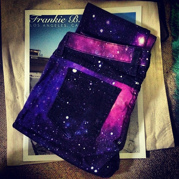 New galaxy print jeans which I love from Frankie B. Jeans!