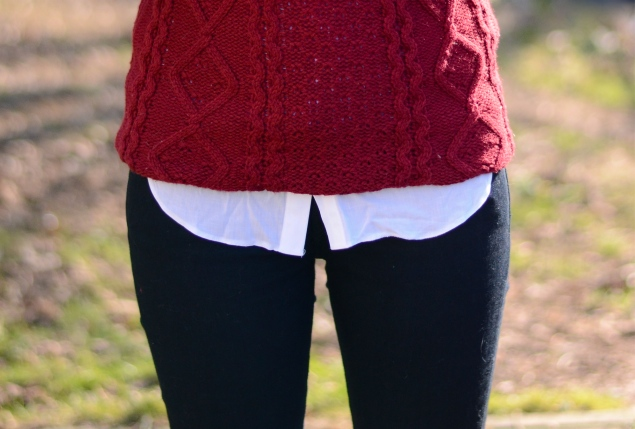 burgundy-jumper-black-jeans-white-shirt